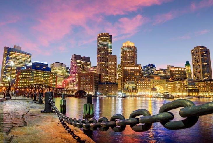 0_new Boston Harbor Sunset