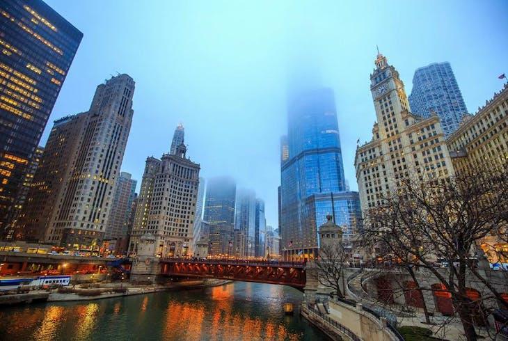 0_new Chicago River Architecture Night