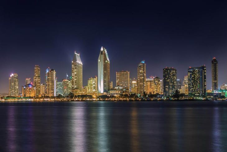 0_new San Diego Skyline Night