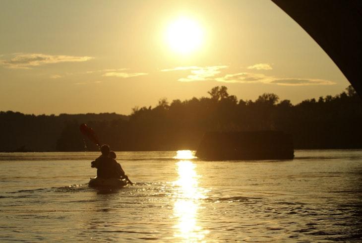 Boating In Boston Sunset Paddle