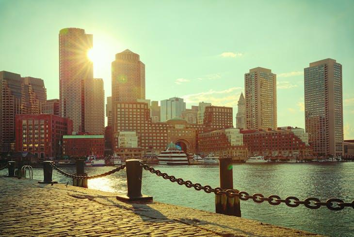 Boston Harbor Sunset