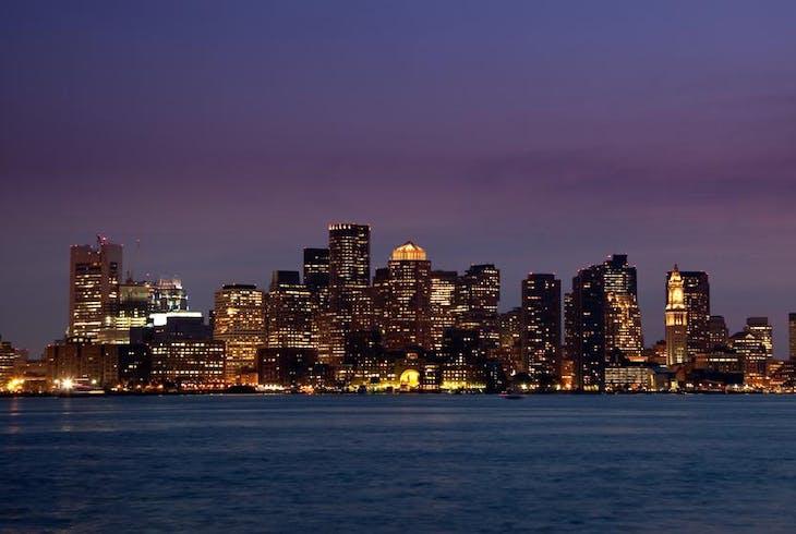 Boston Skyline Night