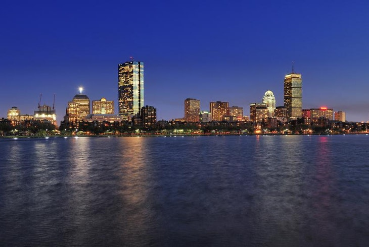 Boston Skyline Night