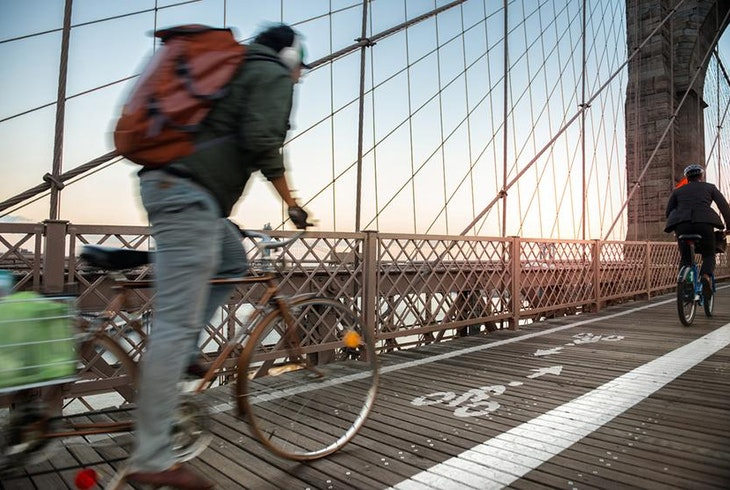 Brooklyn Bridge Bike Path