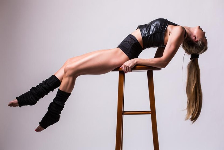 Sexy strip tease lap dance-1039