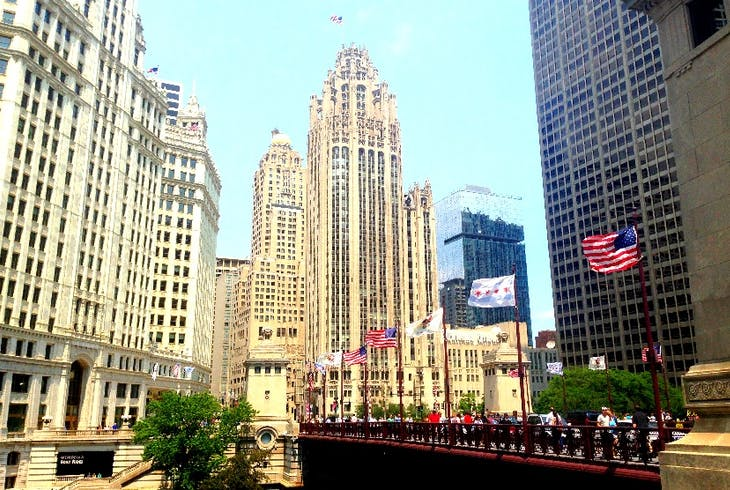 Free Tours By Foot Chicago Twilight Riverwalk