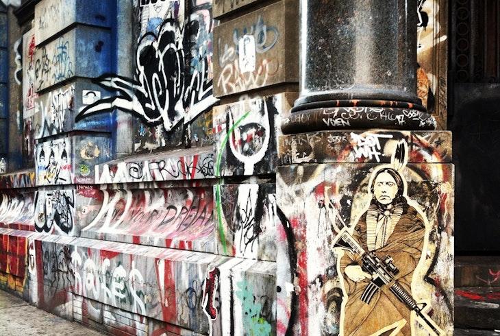 Gotham Sidewalks Street Art Lower East Side