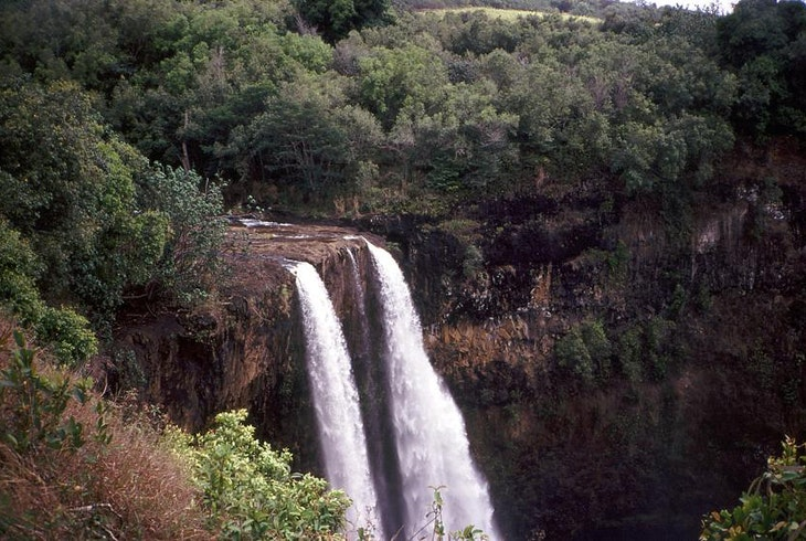 Hawaii Waterfall Aerial