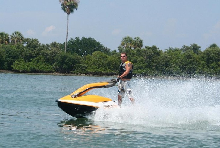 Where is the hook up for a hose on a jet ski