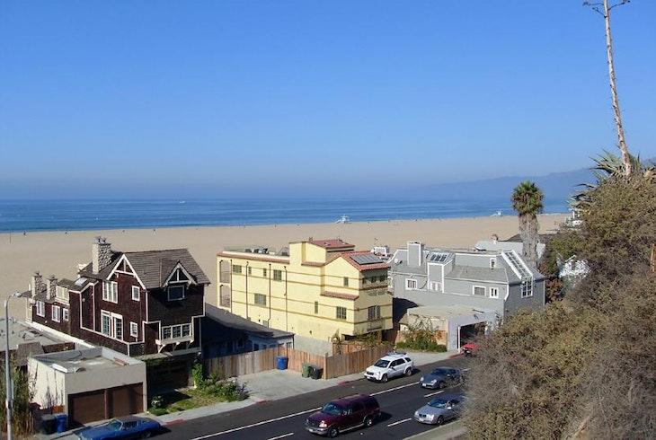 Los Angeles Beach Aerial