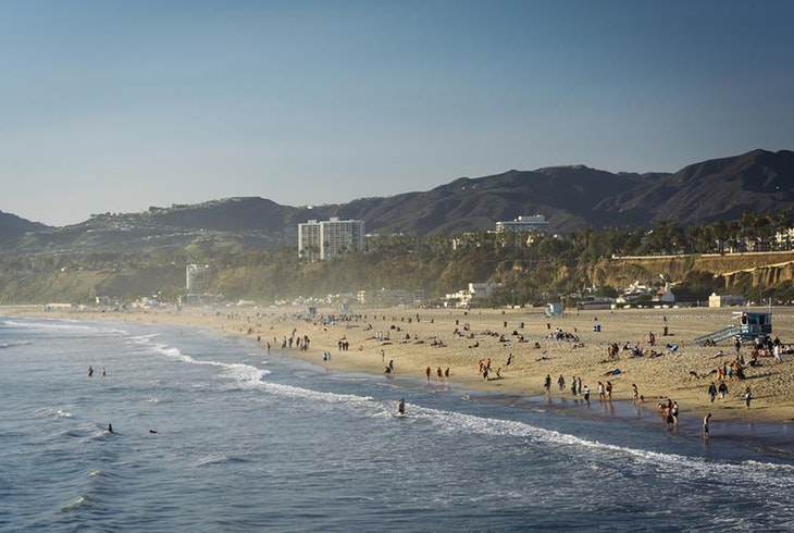 Los Angeles Beach Aerial