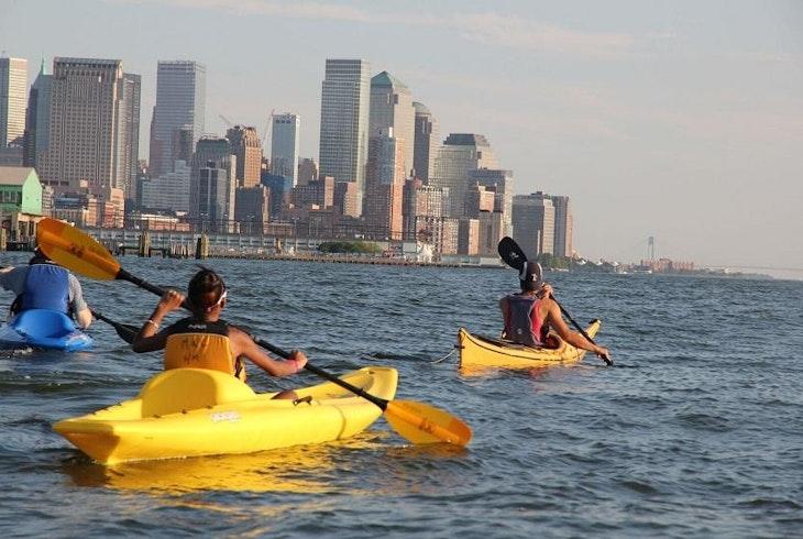 Manhattan Kayak Nyc Skyline