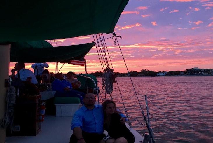 Miami Aqua Tour Sunset Champagne