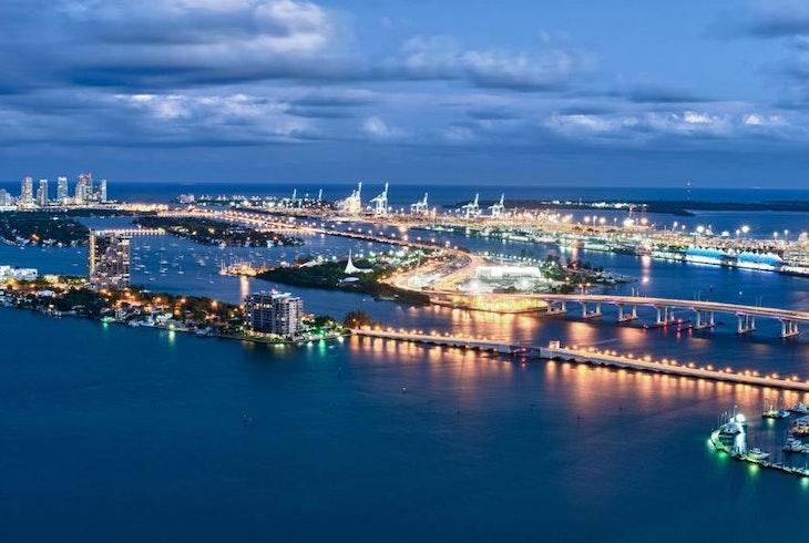 Miami Beach Night Aerial