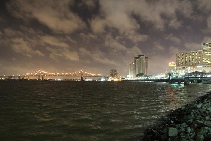 New Orleans Skyline Night