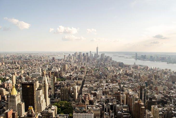 Nyc Skyline Aerial Daytime
