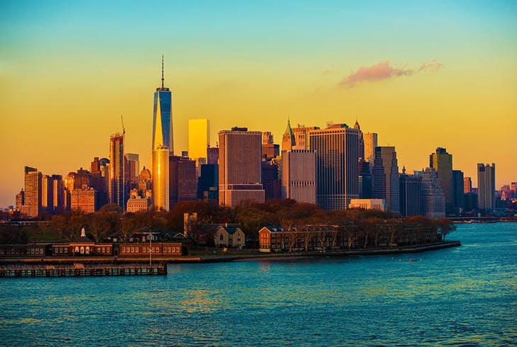 Nyc Skyline Sunset