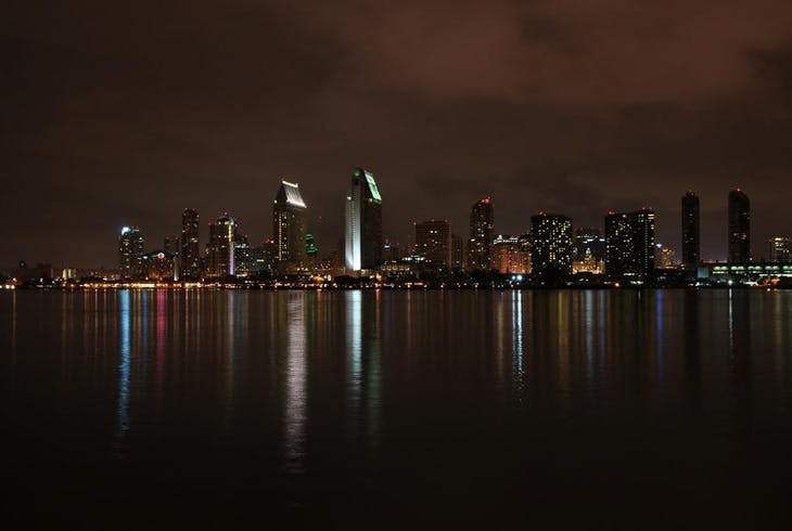 San Diego Skyline Night