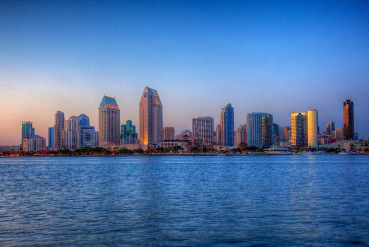 San Diego Skyline Sunset