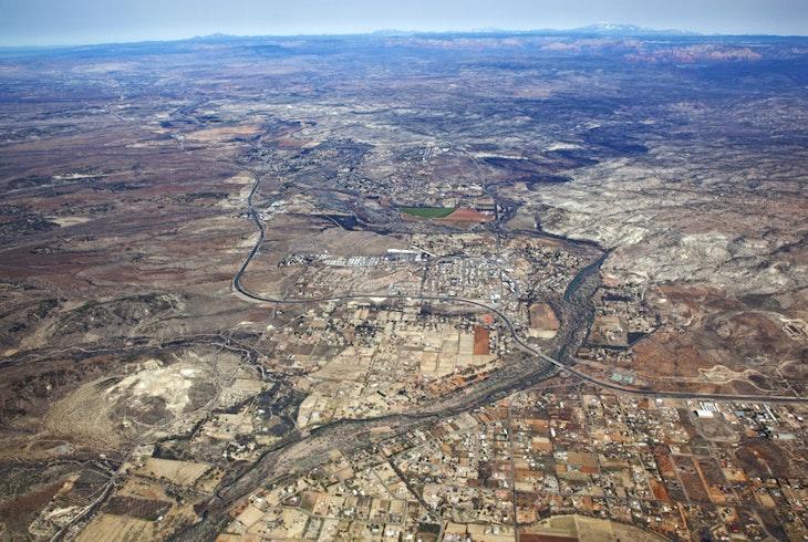 Sedona Flagstaff Aerial