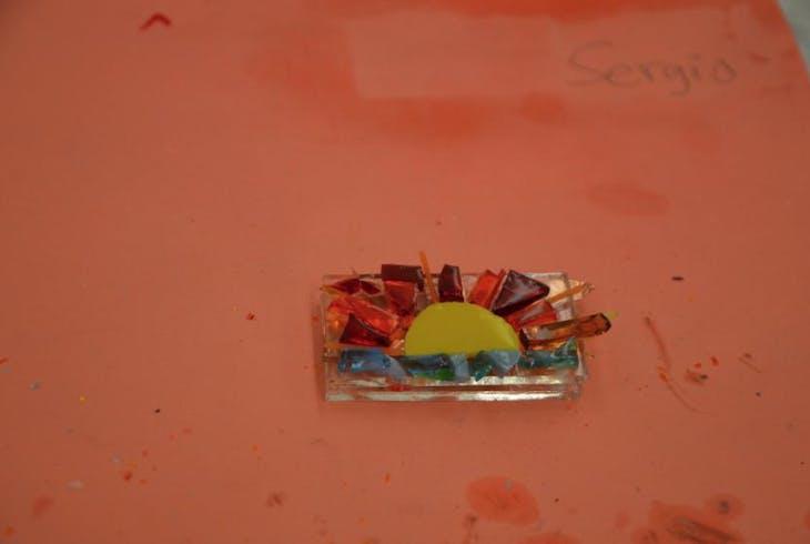 V Fused Glass Pendants 3757