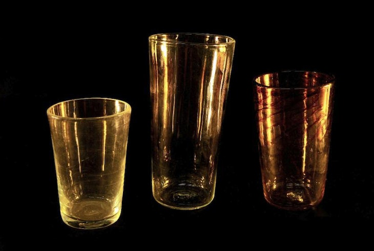 V Glassblowing Drinking Glasses 3744