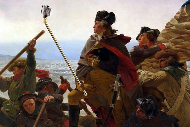 Selfie George Washington Tinder