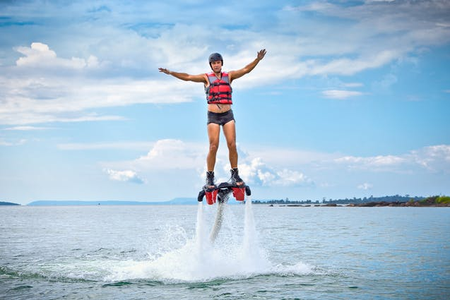 miami water date flyboarding