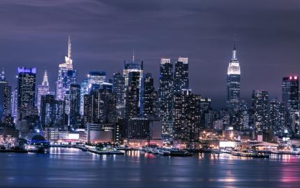 0_new Nyc Skyline Night
