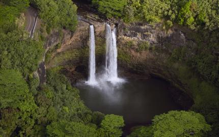 Hawaii Waterfall Aerial